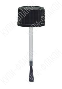 Крышка черная с кисточкой (10мл )