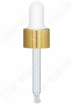Крышка под золото со стеклянной пипеткой (10мл)