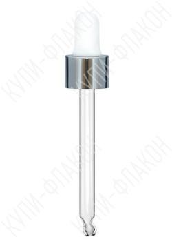 Крышка под серебро со стеклянной пипеткой (30мл)