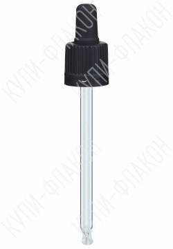 Крышка черная со стеклянной пипеткой (100мл)