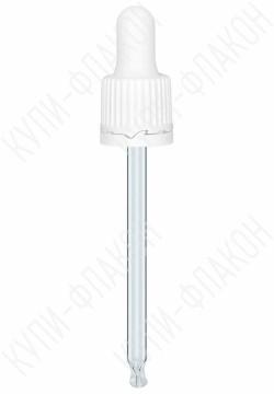 Крышка белая со стеклянной пипеткой (100мл)