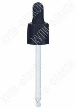 Крышка черная со стеклянной пипеткой (50мл)